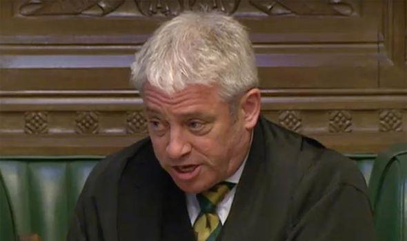 House of Commons Speaker John Bercow speaking to MPs on Syria attacks