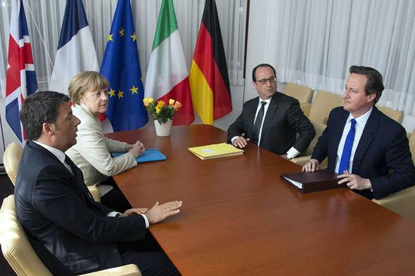 David Cameron with European leaders