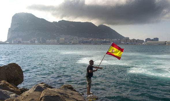 Gibraltar with Spain flag