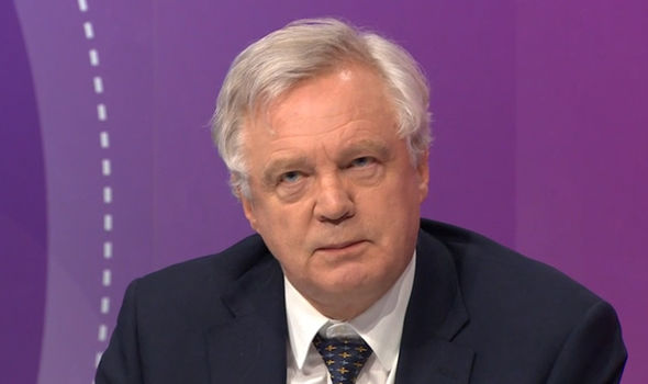 Brexit Secretary David Davis was also on the programme