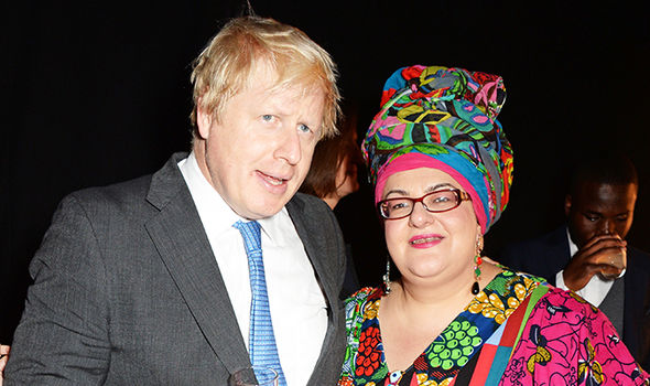 Camila Batmanghelidjh and Boris Johnson