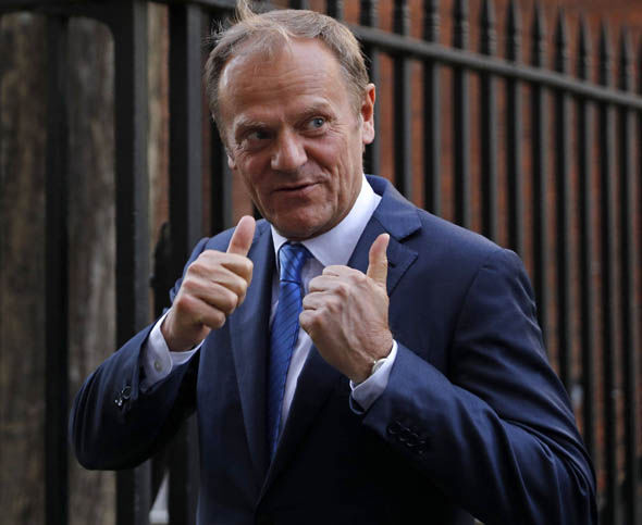 European Council President Donald Tusk in London