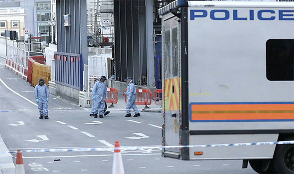 Forensic investigators at London Bridge