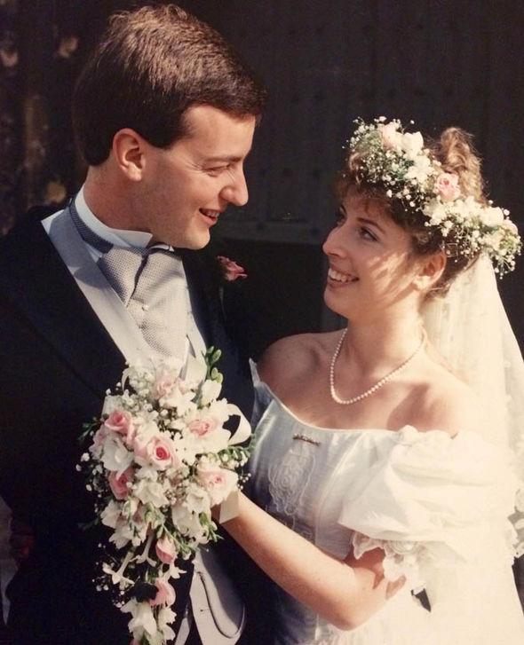 Giles Cooper and wife Nicola's wedding day