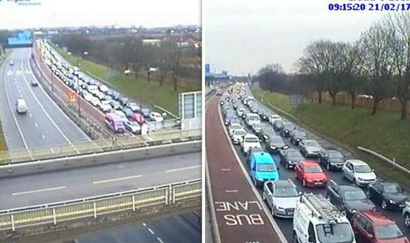 Heathrow protest traffic