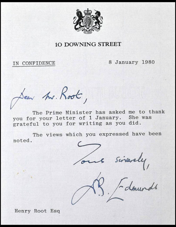 Letter from Downing Street