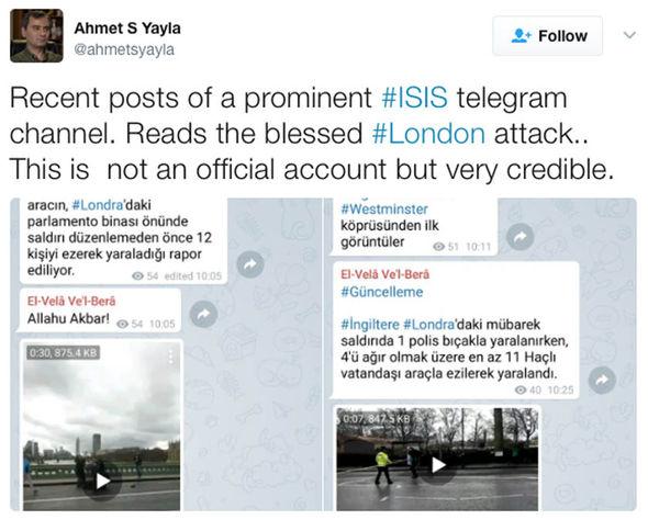 ISIS celebrate London terror attack