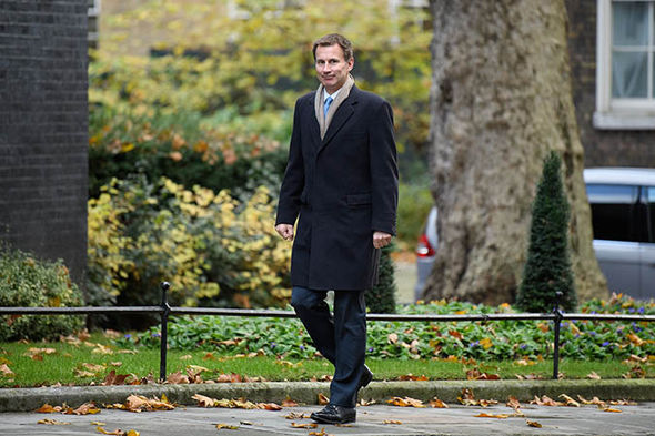 Jeremy Hunt walking