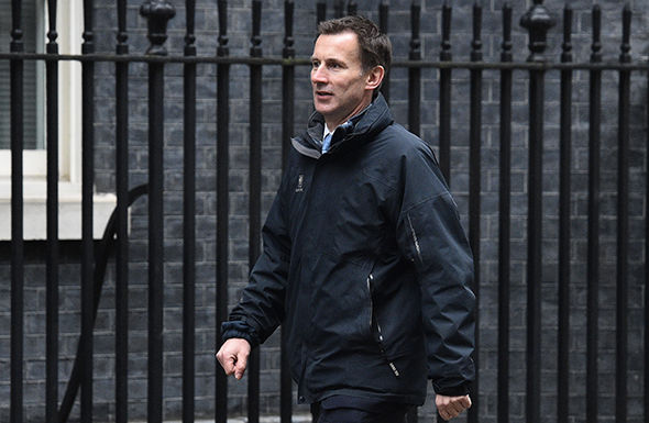 """Jeremy Hunt said the problems in some parts of the NHS were """"completely unacceptable"""""""