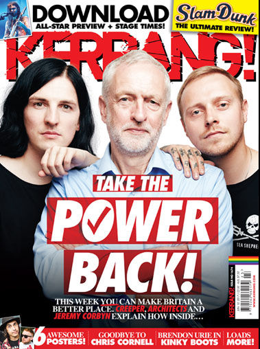 Image result for jeremy corbyn kerrang