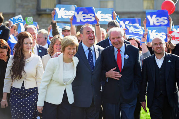 Jim Sillars with Alex Salmond and Sturgeon