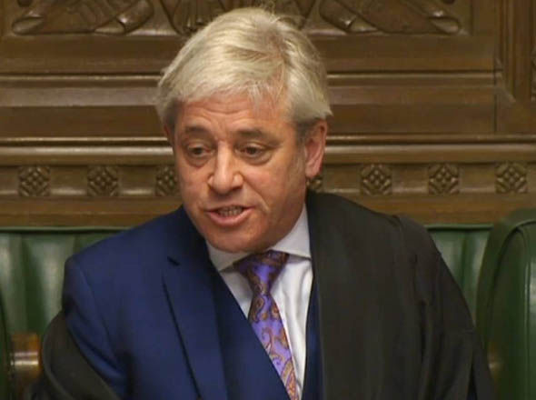 John Bercow in the Commons