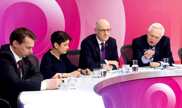 Littlewood appeared on Question Time in Glasgow with Baroness Chakrabarti & the SNP's John Swinney