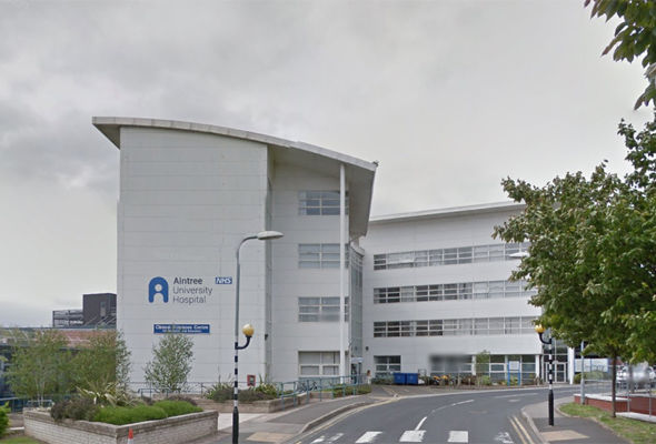 Walmsley was getting into a car outside outside Aintree University Hospital when he escaped