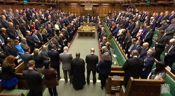 MPs have their minute silence
