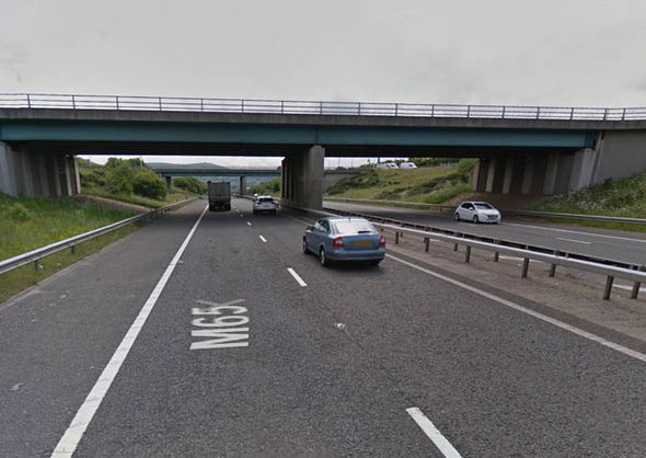 The M65 motorway
