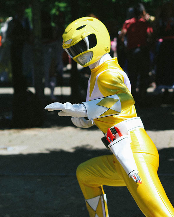 MCM Comic Con: Jemma Wadhams as a Power Ranger