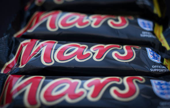 The Mars bar, a UK favourite chocolate bar