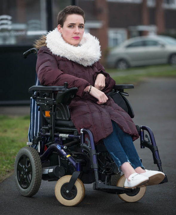 Nicki Price sitting in her wheelchair