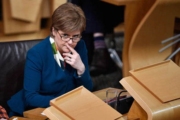 Nicola Sturgeon thinking