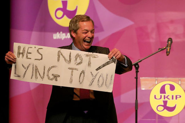 Nigel Farage sign