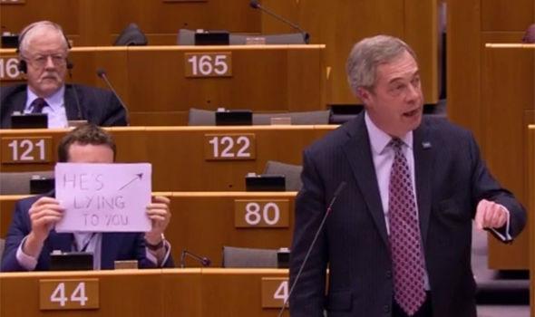 Seb Dance mocking Nigel Farage