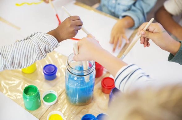 painting childcare