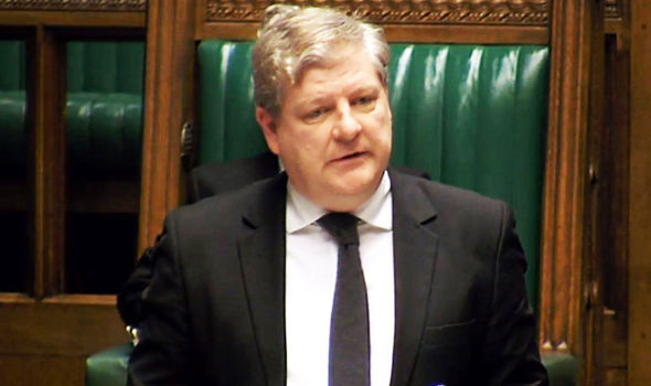SNP leader in Westminster Angus Robertson pictured in the Commons on Monday