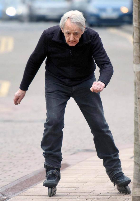 Mr Dornan skating