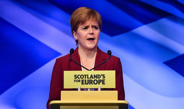 Sturgeon has been campaigning to get an independent Scotland into the EU