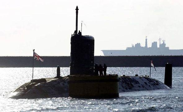 A Trafalgar class nuclear-submarine