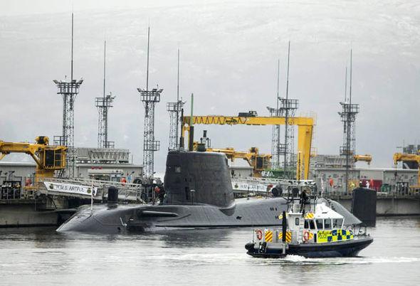 Astute-class submarine HMS Artful