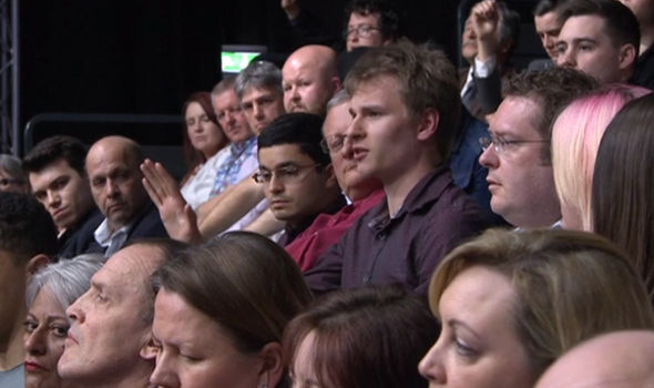 The claims were cheered by the Question Time audience