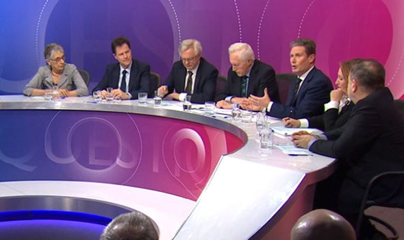 The panelists were in Birmingham for a Question Time Brexit special