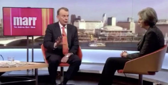 Theresa May on the Andrew Marr show on BBC