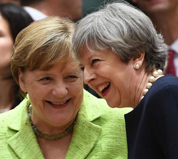 Angela Merkel and Theresa May at the EU summit
