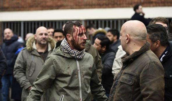 riots at tottenham v arsenal clash near