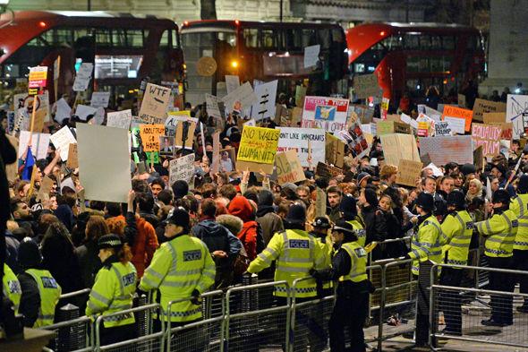 Trump protestors