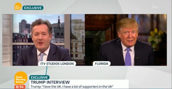 Trump also spoke of his
