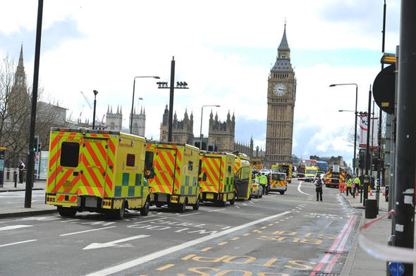 Fire engines at Westminster