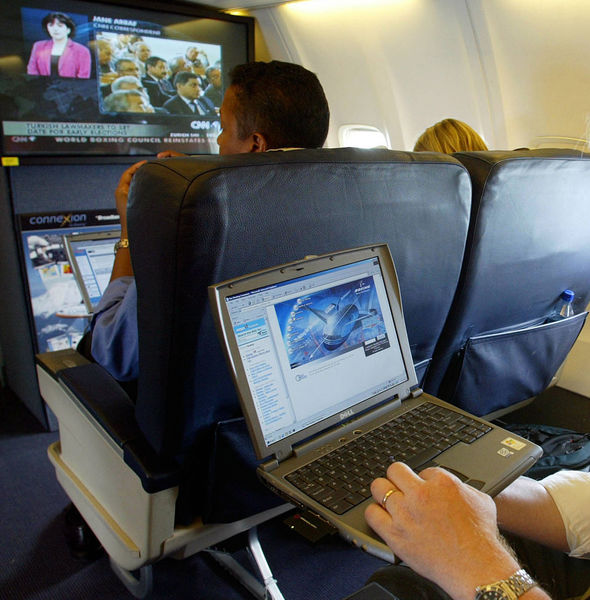 Laptops will have to be stowed in the hold