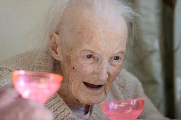 Iris Essary drinking prosecco