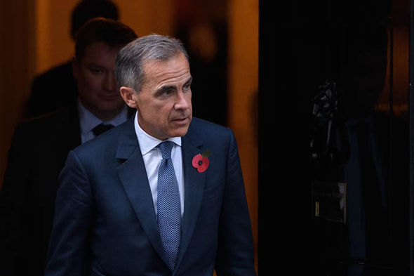 Mark Carney leaving Downing Street