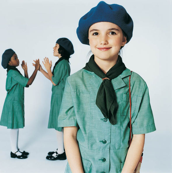 Three girl guides