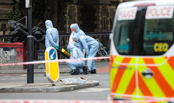 Forensic experts at London Bridge terror scene