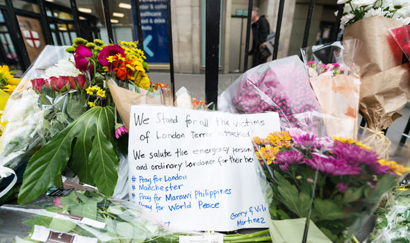 london bridge terror attack flowers
