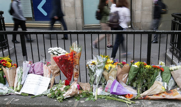 london terror attack flowers