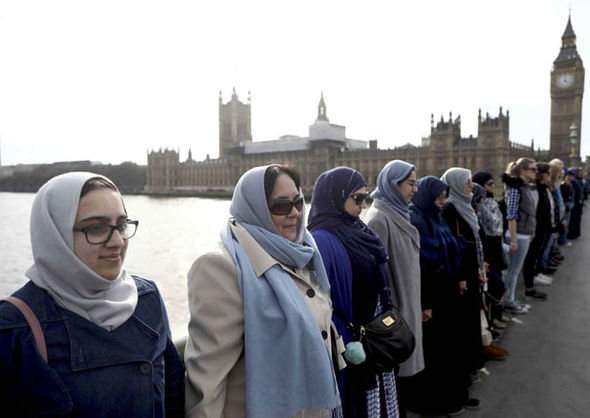 Westminster Bridge solidarity event Women's March London