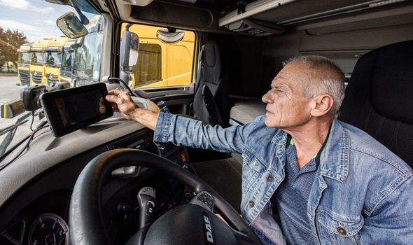 lorry drivers from the EU