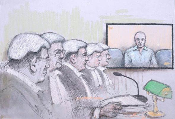 A court artist sketch